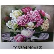 Алмазная мозаика (TC3394) Цветы 40x50