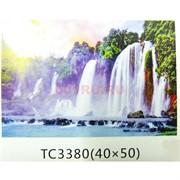 Алмазная мозаика (TC3380) Водопады 40x50