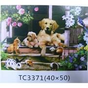 Алмазная мозаика (TC3371) Домашние животные 40x50
