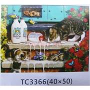 Алмазная мозаика (TC3366) Животные 40x50