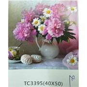 Алмазная мозаика (TC3395) Букет с цветами 40x50