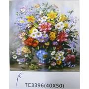 Алмазная мозаика (TC3396) Цветы 40x50