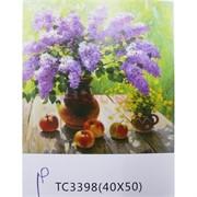 Алмазная мозаика (TC3398) Цветы 40x50