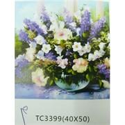 Алмазная мозаика (TC3399) Цветы 40x50