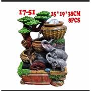 Фонтан 38 см (17-51) Слоны из полистоуна