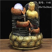 Фонтан 26 см (1140) Будда из полистоуна