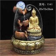Фонтан 26 см (1141) Будда из полистоуна