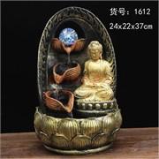 Фонтан 37 см (1612) Будда из полистоуна