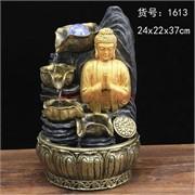 Фонтан 37 см (1613) Будда из полистоуна