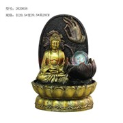 Фонтан 28 см (2020038) Будда из полистоуна