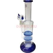 Бонг стеклянный синий 25 см
