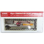Набор торцевых головок с трещоткой AIWA 40 шт