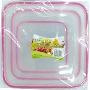 Набор пластмассовых контейнеров 3 шт