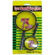 Лупа 50 мм и 75 мм Magnifying glass 2 шт/уп
