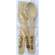 Кухонный набор деревянный: вилка, ложка, лопатка