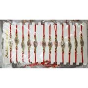 Браслет со стразами с красной ниткой «сглаз разные виды» 12 шт/уп
