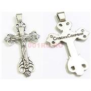 Крест металлический 5 см «Спаси и Сохрани» под серебро