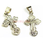 Крест металлический 3 см под серебро