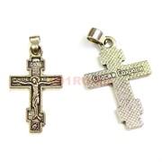 Крест металлический прямоугольный 2,6 см под серебро