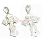 Крест металлический 2,9 см под серебро