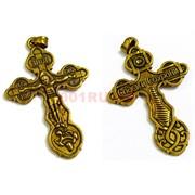 Крест металлический 4,4 см под золото