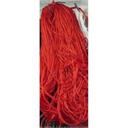 Нитка толстая из греческого шелка 200 м красная