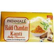 Мыло Патанджали 75 гр с сандалом и куркумой Haldi Shandan Kanti