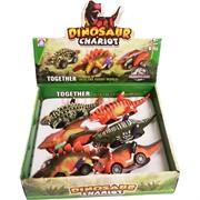Dinosaur Chariot машинка динозавр иннерционная 12 шт/уп