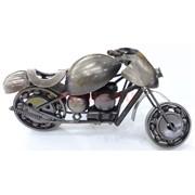 Фигурка металлическая мотоцикл цвет металл 11 см