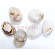Натуральный минерал белый моховой агат цена за 1 шт