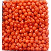 Бусины 6 мм из оранжевого коралла (имитация) цена за 1 шт
