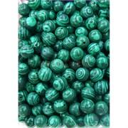 Бусины 8 мм из зеленого малахита прессовка цена за 1 шт