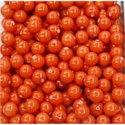 Бусины 8 мм из оранжевого коралла цена за 1 шт