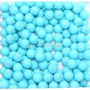 Бусины 8 мм из голубой бирюзы цена за 1 шт