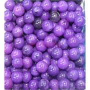 Бусины 10 мм из фиолетового халцедона цена за 1 шт