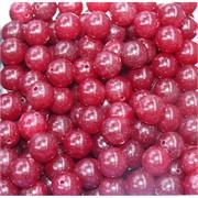 Бусины 10 мм из вишневого халцедона цена за 1 шт