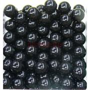 Бусины 12 мм из черного агата цена за 1 шт