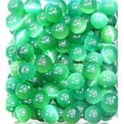 Бусины 12 мм из зеленого кошачьего глаза цена за 1 шт