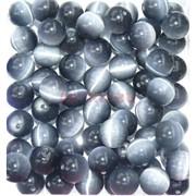 Бусины 12 мм из темно-серого кошачьего глаза цена за 1 шт