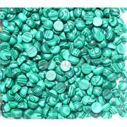 Кабошоны 6 мм круглые из малахита прессовка