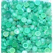 Кабошоны 8 мм круглые из зеленого хризопраза