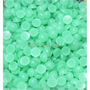 Кабошоны 10 мм круглые из зеленого халцедона
