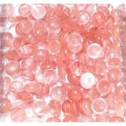 Кабошоны 10 мм круглые из клубничного халцедона