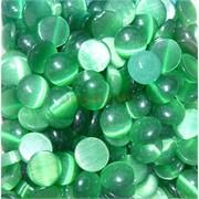 Кабошоны 12 мм круглые из зеленого кошачьего глаза