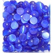 Кабошоны 12 мм круглые из синего кошачьего глаза