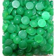 Кабошоны 12 мм круглые из зеленого хризопраза натурального