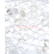 Кабошоны 15 мм круглые из горного хрусталя