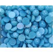Кабошоны 15 мм круглые из голубого аквамарина