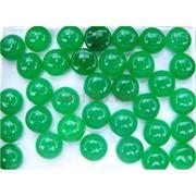 Кабошоны 15 мм круглые из зеленого хризопраза