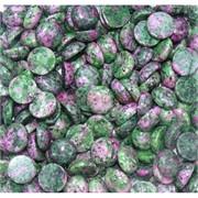 Кабошоны 15 мм круглые из цоизита